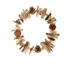 Driftwood and cone wreath