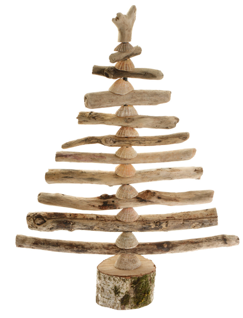 Driftwood and shell Christmas tree (available in two sizes)