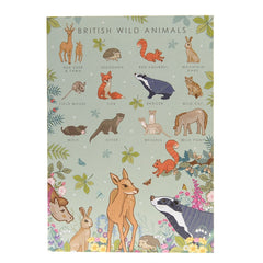 British Wild Animals Poster – Illustration Print