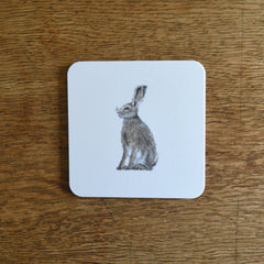 Sitting hare coaster