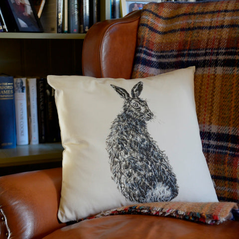 Vince the hare cushion