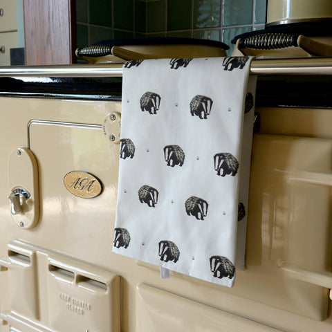 Boris Badger tea towel