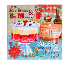 Eat Drink and Be Merry – Christmas card