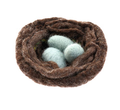 Felted nest and eggs