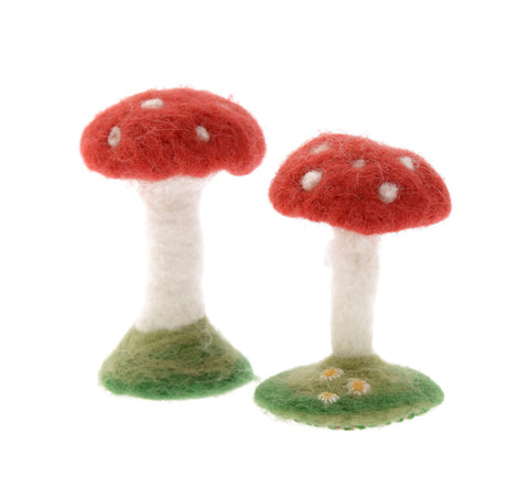 Felted toadstools
