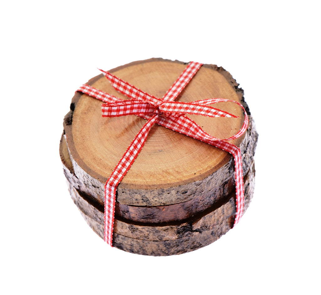 Wooden traditional real log coasters