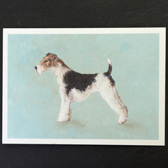 Fox Terrier dog greeting card