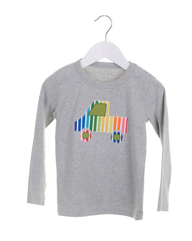 Grey long sleeve boys t-shirt with appliqué truck