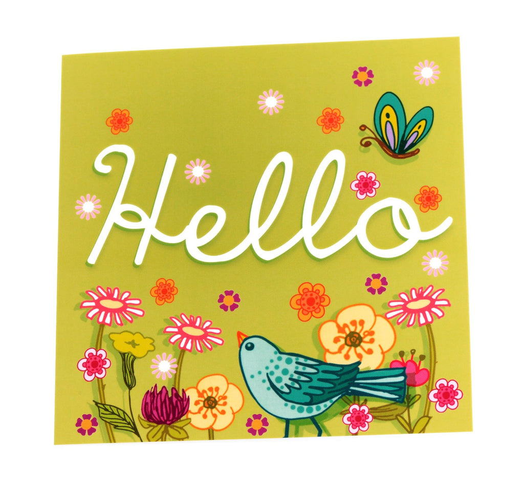 Two hello cards in one design