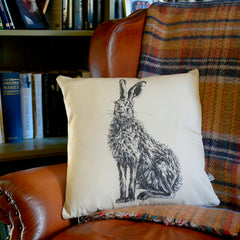 Henry the hare cushion