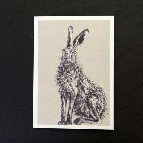 Henry the hare greeting card