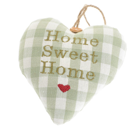 Home sweet home fabric heart