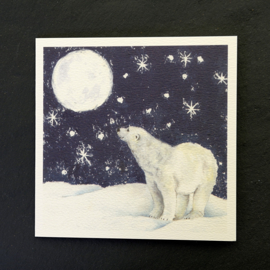 Hope polar bear greeting card