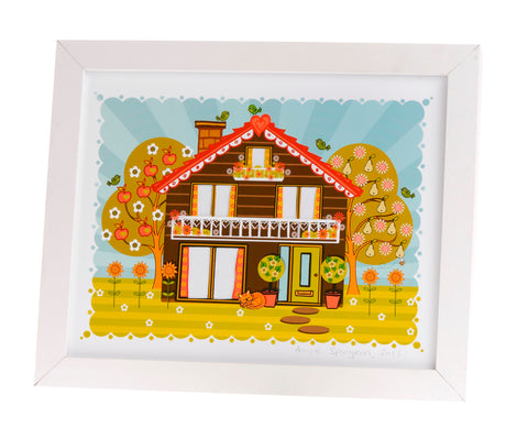 Folk House print by Angie Spurgeon