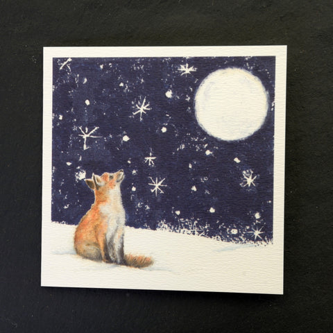 I wonder fox greeting card