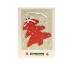Funky Christmas card with detachable tree decoration