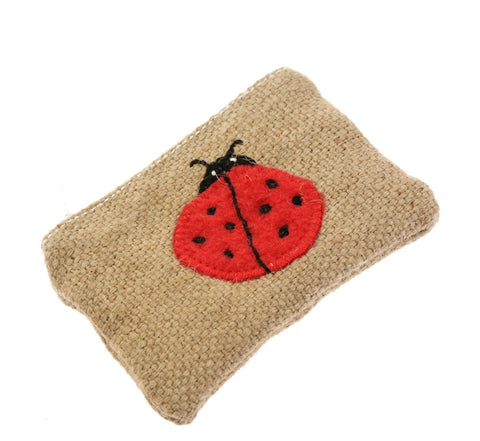 Hessian ladybird purse