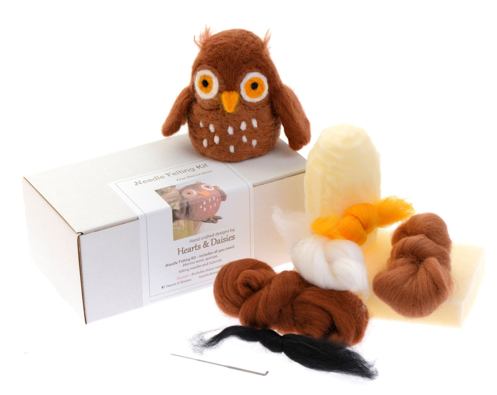 Needle felting kit – owl