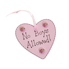 No boys allowed door hanger