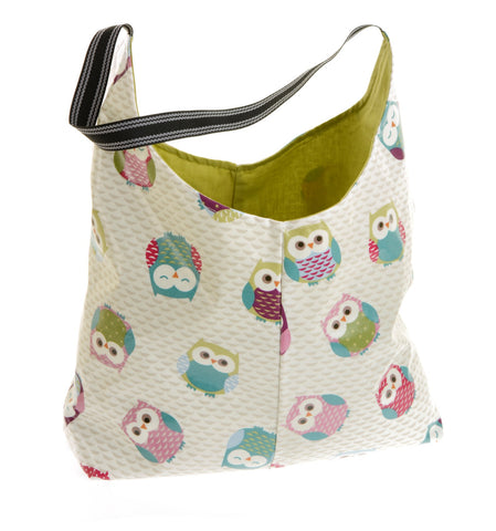 Owl fabric oilcloth bag
