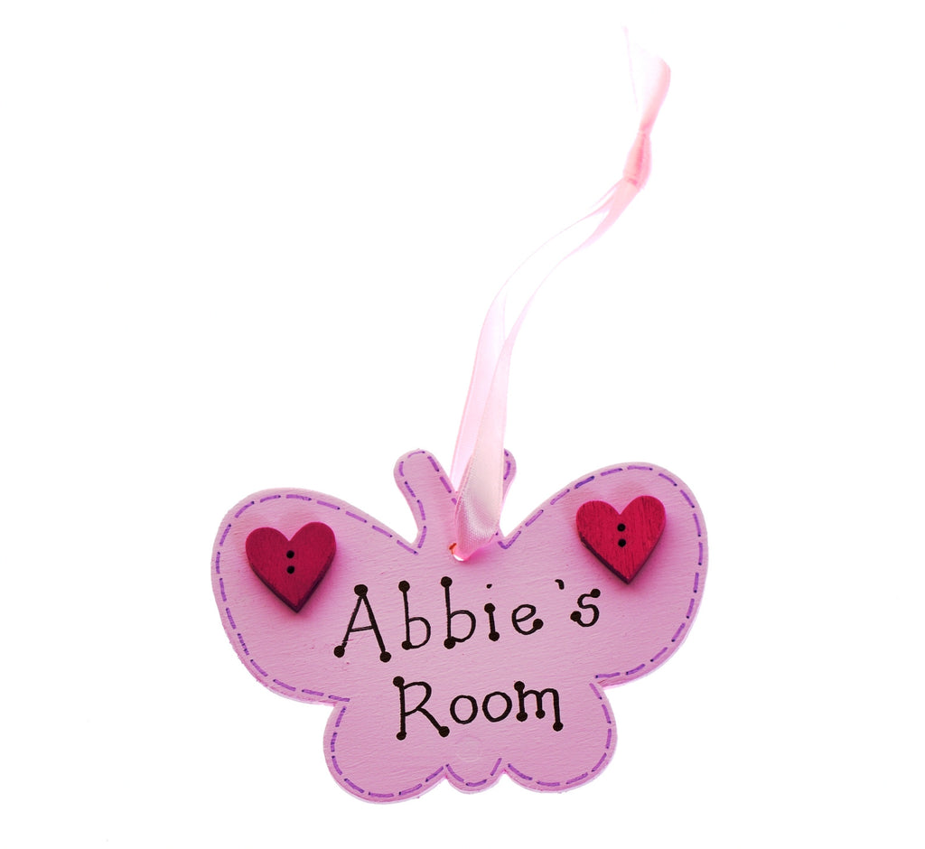 Butterfly door hanger – pink