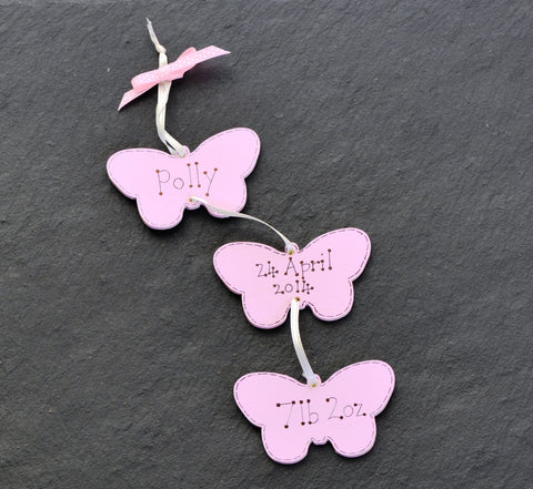 New baby butterfly mobile – pink