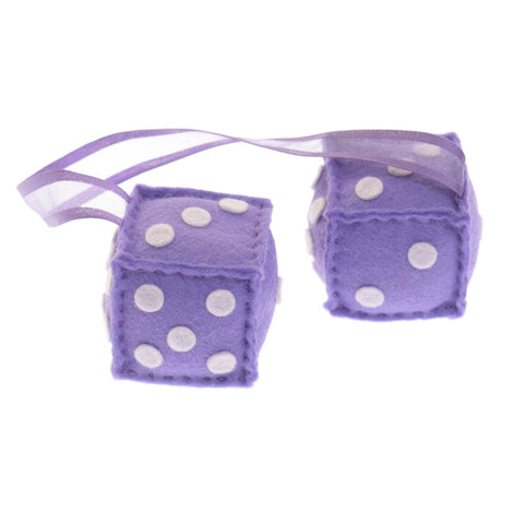 Furry Dice - purple