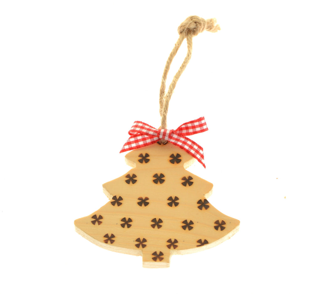 Pyrography Christmas tree decoration