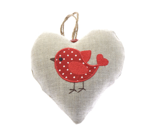 Robin fabric heart
