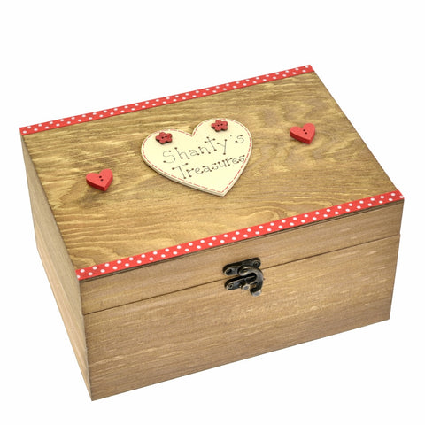 Red Personalised Treasure Chest