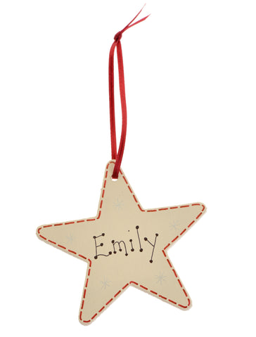 Star decoration – personalised