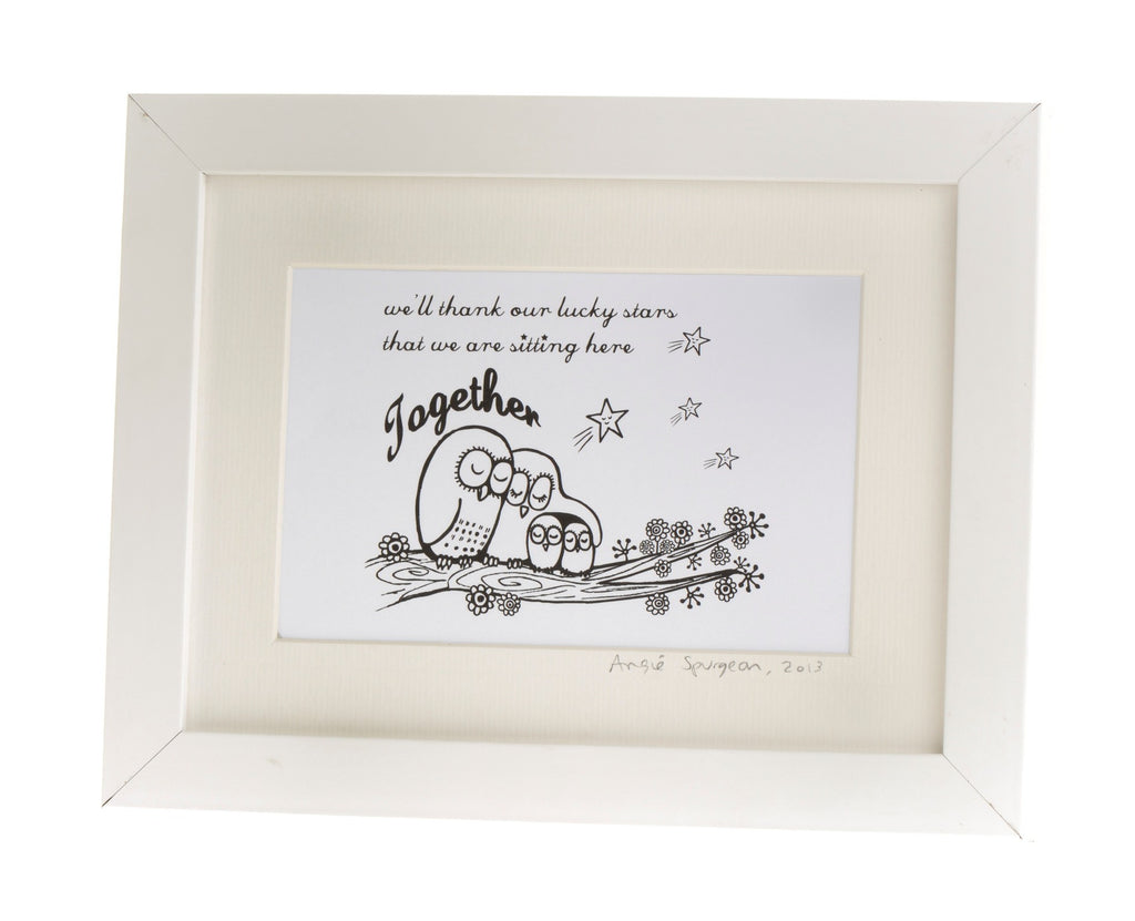 Lucky stars framed print by illustrator Angie Spurgeon