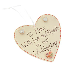 To Mum wedding heart