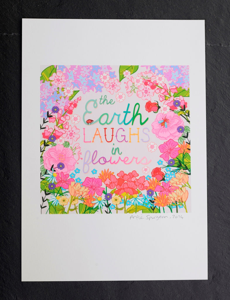 The earth laughs in flowers print