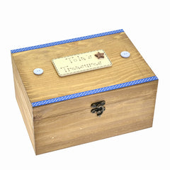 Blue Personalised Treasure Chest