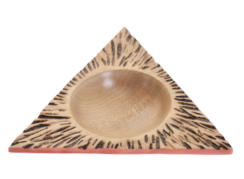 Ash triangular dish
