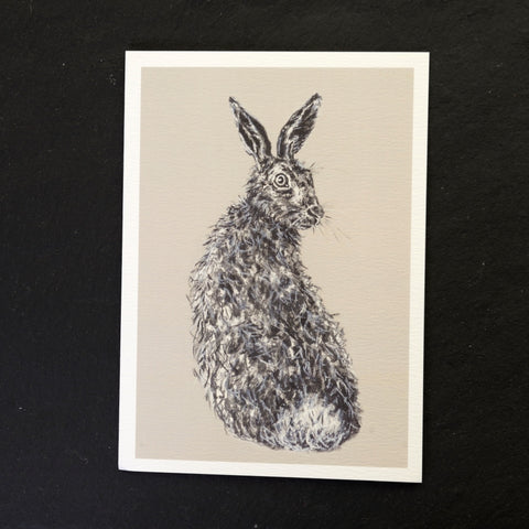Vince the hare greeting card