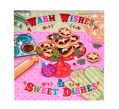 Warm Wishes and Sweet Dishes – Christmas card