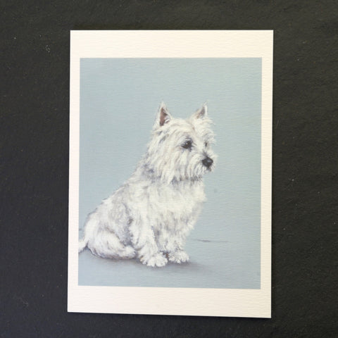 Whiskey the dog greeting card