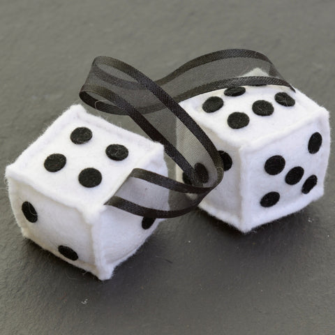 Furry Dice - white