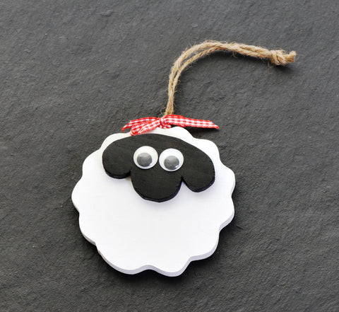 Wooden hanging sheep