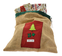 Hessian Christmas present sack