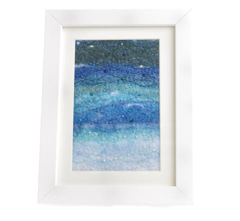 A felted seascape picture