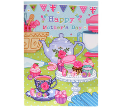 Tea and cakes Mother's Day card
