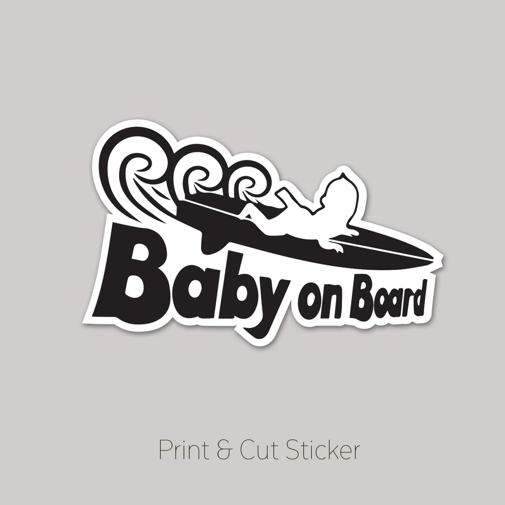 "Baby on board ""baby surfing"""