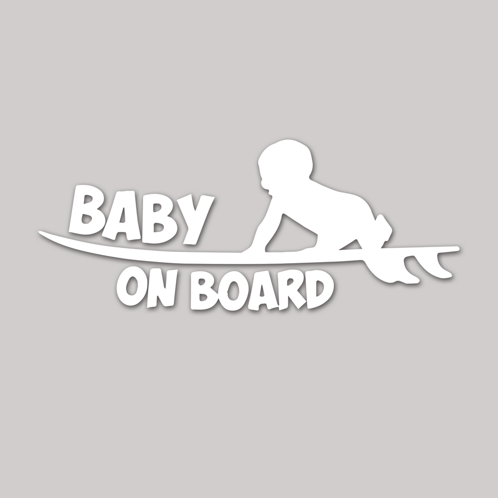 "Baby on Board ""crawling on surfboard"""