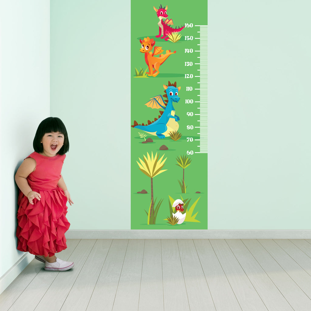Dragon Growth Chart Wall Decal