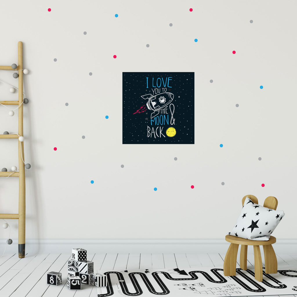 I Love You To the Moon & Back - Rocket Wall Decals