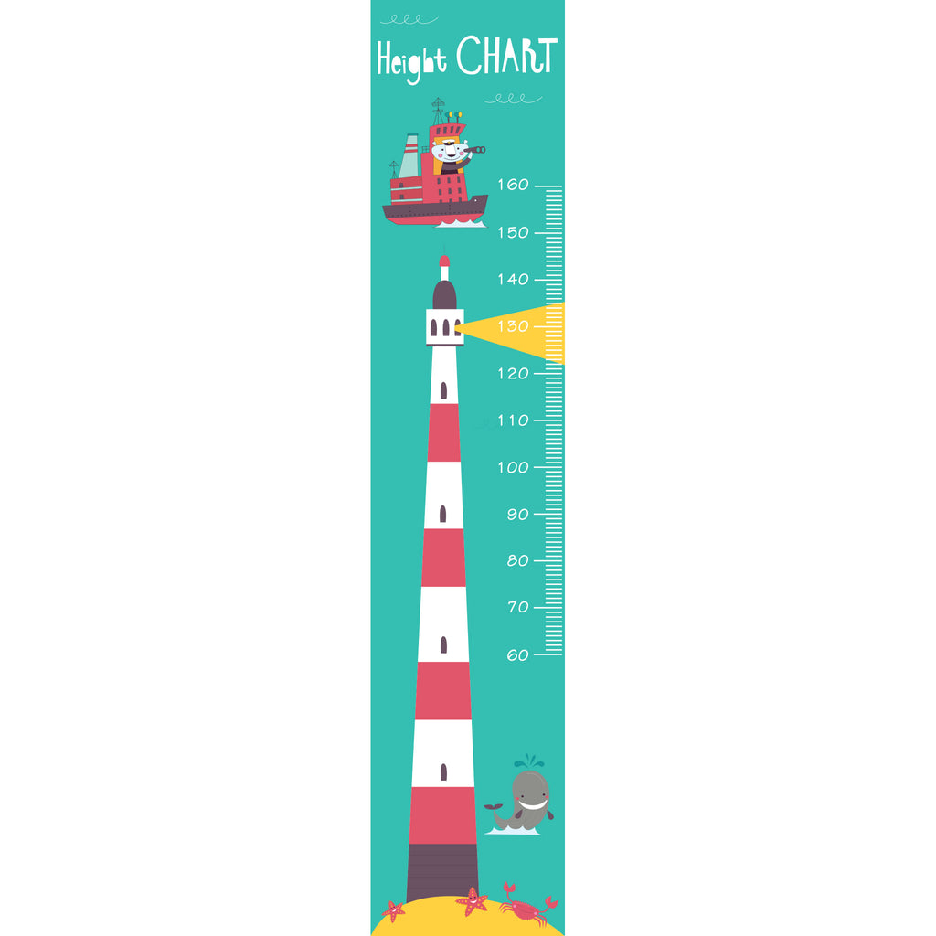 Lighthouse Growth Chart Wall Sticker