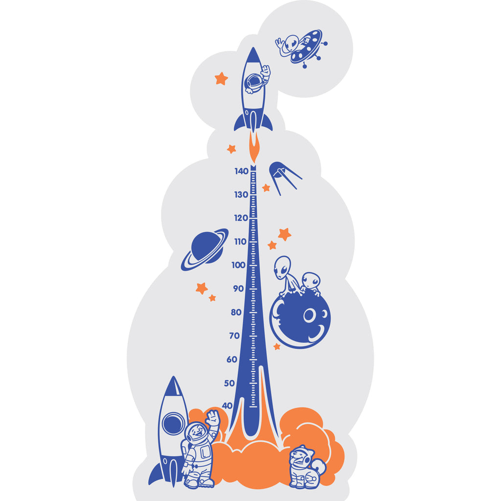 Rocket Growth Chart Wall Sticker